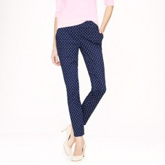 J Crew Cafe Capri in Dot