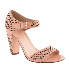 J Crew Vega Patent Perforated Sandal