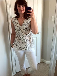 White pants: H&M, top: found in a boutique