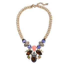 Symmetrical Stone Statement Necklace